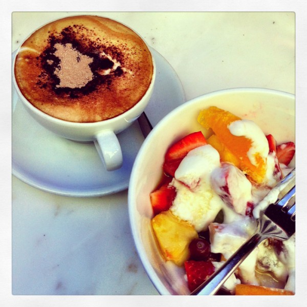 Breakfast at Jackies in Paddington after a Spin session at Flowathletic.
