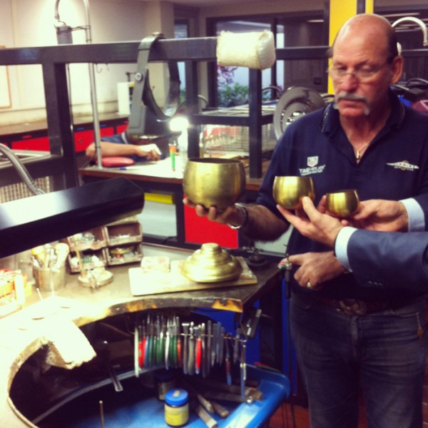 Spent the day at the Hardy Brothers Brisbane-based workshop, where the actual Melbourne Cup is made.