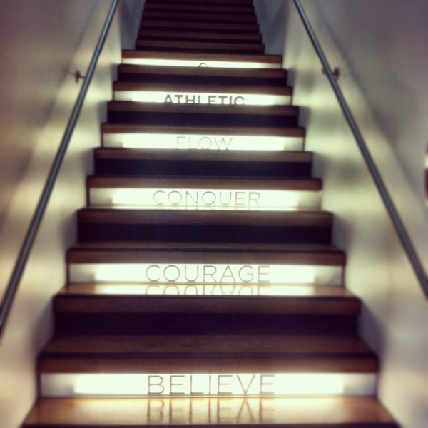 Stairway to heaven! Training at Paddington's Flow Athletic.