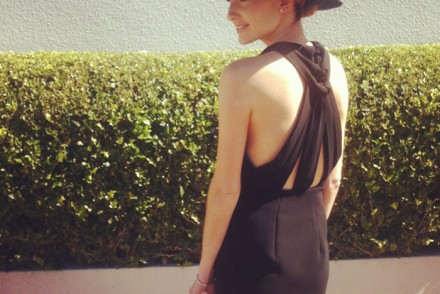 Heading to Derby Day at Royal Randwick, wearing Dion Lee.