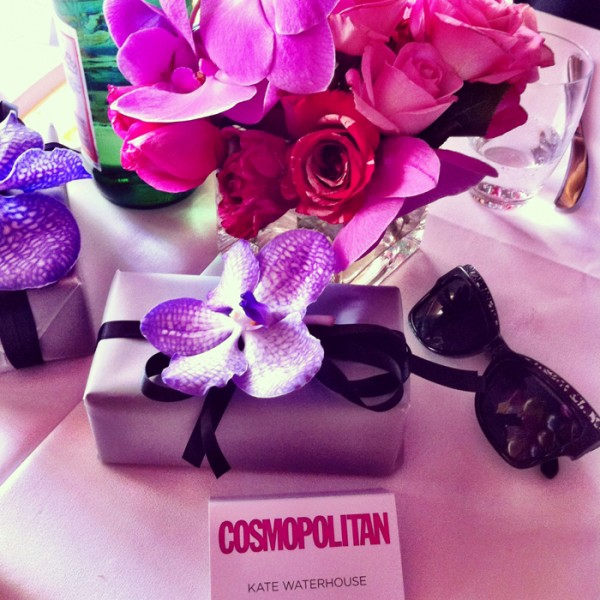 The table decorations at Cosmopolitan's 40th birthday.