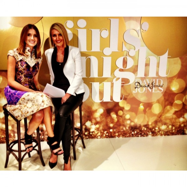 Hosting the David Jones GIrls Night Out Sydney fashion workshop with stylist and blogger Claire Fabb.