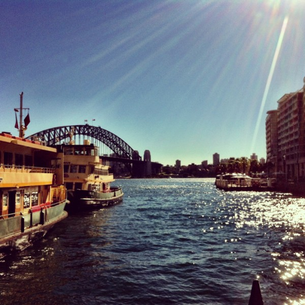 Catching the ferry into the city for Bespoke luxury business and fashion summit, held at The Sydney Opera House.