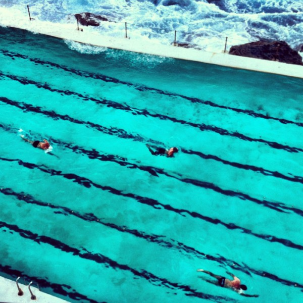 Beautiful Bondi ocean pool on an autumn afternoon.