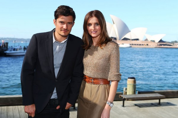 At the Park Hyatt with Orlando Bloom.