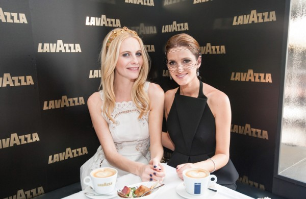 Coffee and a chat with Poppy Delevingne at Flemington Racecourse.