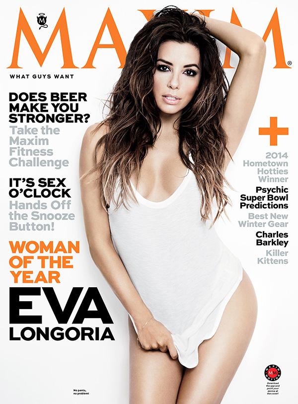 Eva on the 2014 cover of Maxim magazine.