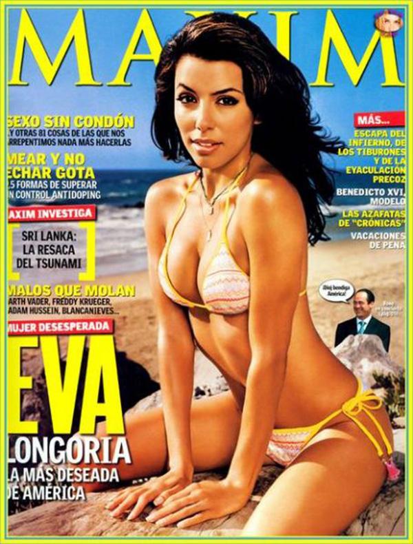 Eva on the 2004 cover of Maxim magazine.