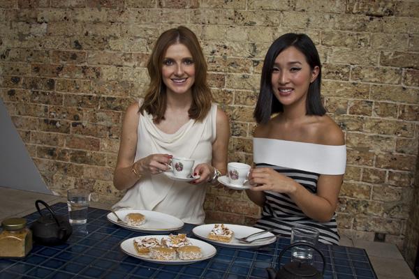 Having tea with Nicole Warne prior to MBFWA.