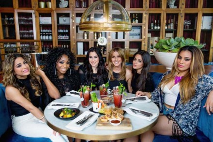 Lunch with Fifth Harmony. Photo: Cole Bennetts