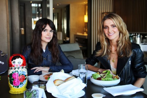 Lunch with Miroslava Duma.