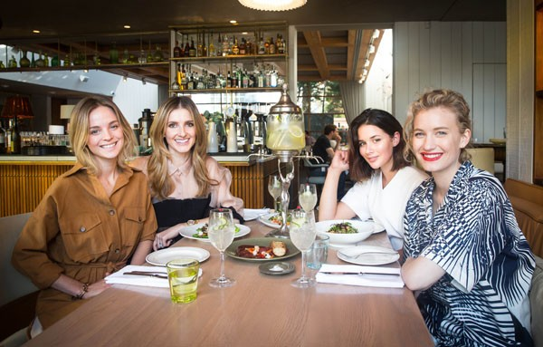 Lunch with Nadia Fairfax, (left)  Sara Donaldson and Zanita Whittington at Woollahra's Hotel Centennial, Photo: Mimi Liu
