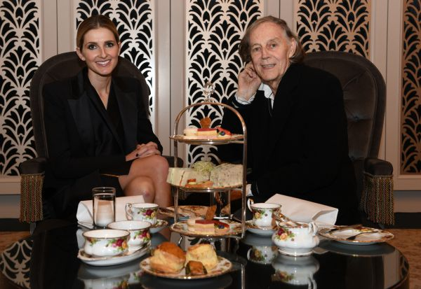 Date with Kate Kate Waterhouse with Barry Otto at The Tea Room ,QVB  3rd June 2015 Photo: Steven Siewert