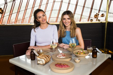 Kate and Jesinta at Cured & Cultured Bar, Bennelong