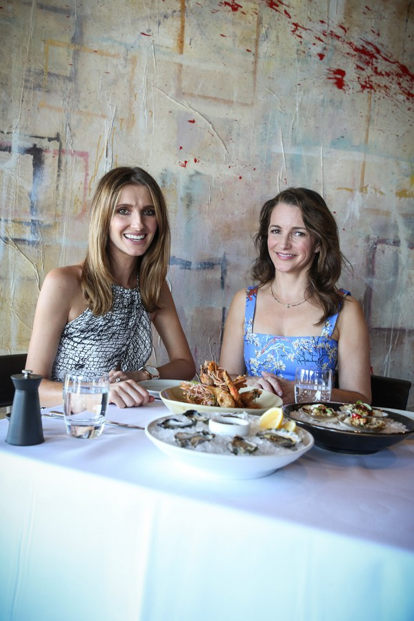 SUN HERALD DATE WITH KATE. Kate Waterhouse with actress Kristen Davis having lunch at The Flying Fish in Pyrmont, Sydney 11th February 2016 Photo by Louise kennerley smh