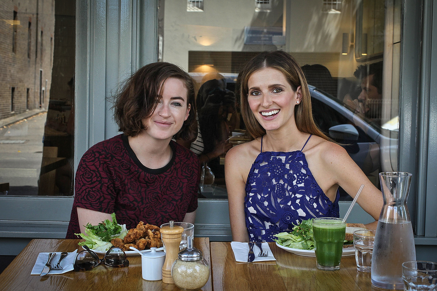 SYDNEY, AUSTRALIA - FEBRUARY 15: Singer, Songwriter Megan Washington is seen at lunch with Kate Waterhouse for her 'Date With Kate' column at Bills, Surry Hills on February 15, 2016 in Sydney, Australia. (Photo by Ben Rushton/Fairfax Media)