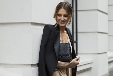 Kate Waterhouse Chanel at Marais boutique launch Melbourne balmain blazer chanel bag bec and bridge dress 2