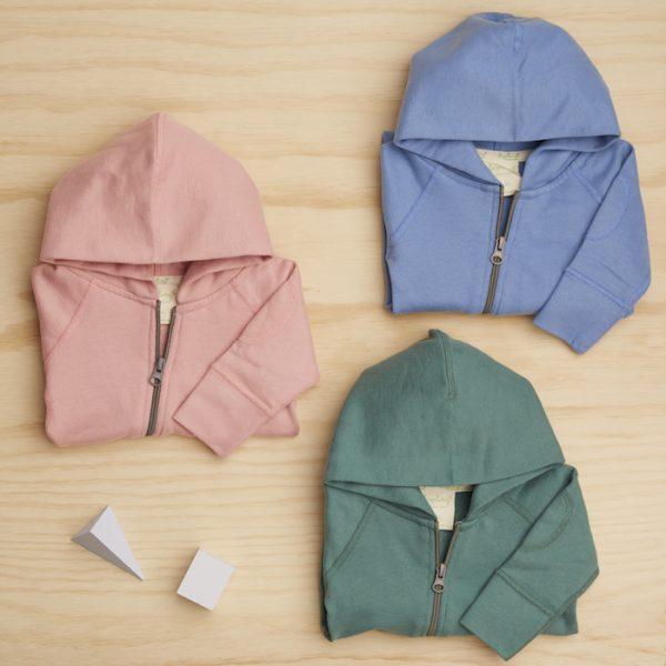 Kate Waterhouse Sapling collection hooded onesies