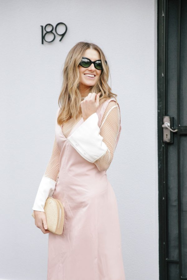 Kate Waterhouse kowtow dress dusty pink