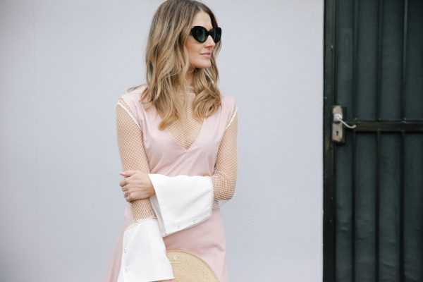 Kate Waterhouse kowtow dress dusty pink 2