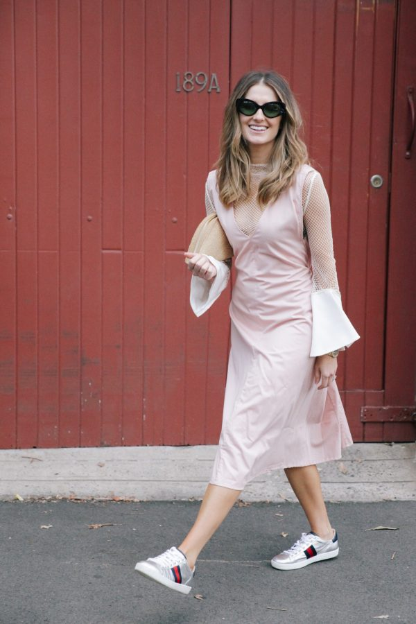 Kate Waterhouse kowtow dress dusty pink 3