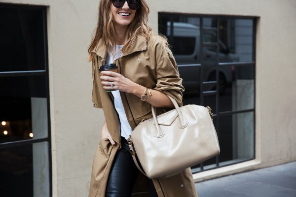 kate waterhouse trench coat street style 2