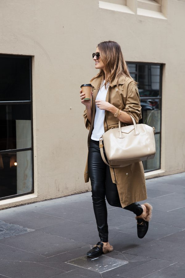 kate waterhouse trench coat street style 8