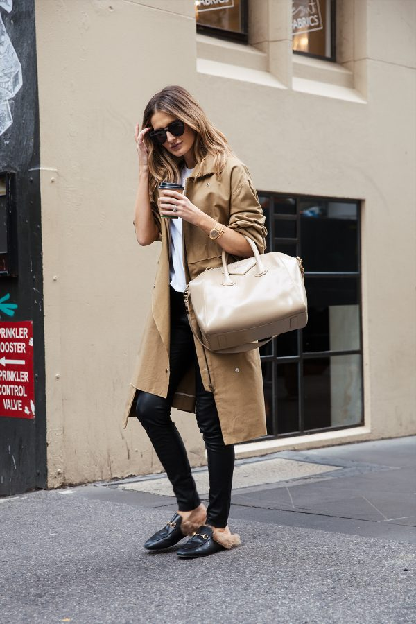 kate waterhouse trench coat street style 3