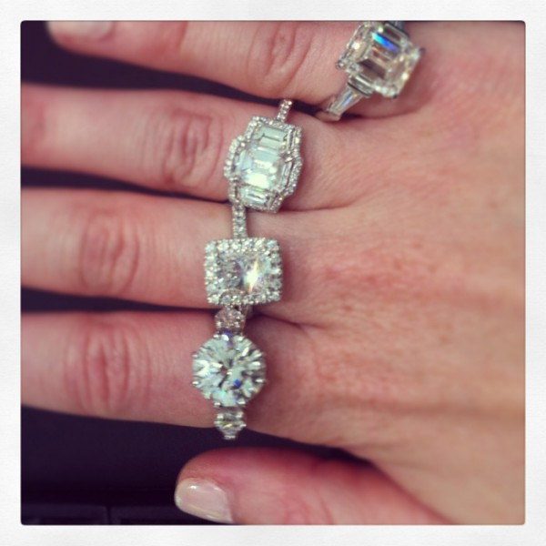 Diamonds are a girls best friend! Checking out the Hardy Brother's vault collection.