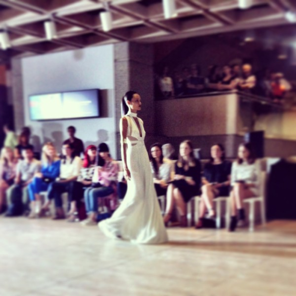 The Lisa Ho runway at the Art Gallery of NSW.