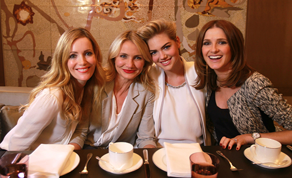 Morning tea with Leslie Mann, Cameron Diaz & Kate Upton