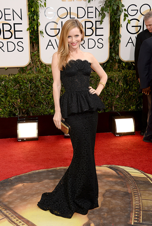 Leslie Mann at the Golden Globes.