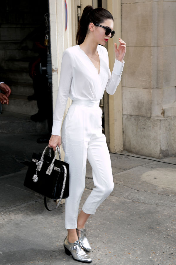 PARIS, FRANCE - JULY 07: Kendall Jenner leaves the Chanel show as part of Paris Fashion Week Haute Couture Fall/Winter 2015/2016 on July 7, 2015 in Paris, France. (Photo by Marc Piasecki/WireImage)