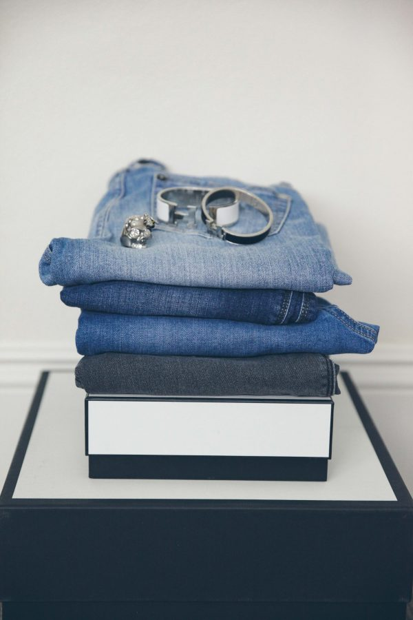Kate Waterhouse wardrobe basics stacked jeans
