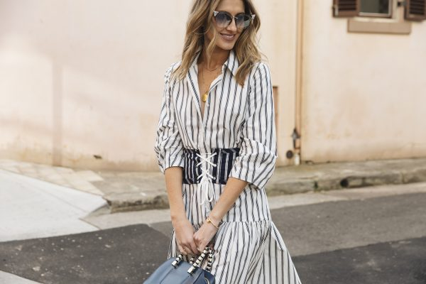 Kate Waterhouse Veronika Maine striped shirt dress