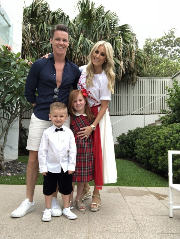 Roxy Jacenko with husband Oli and children Pixie and Hunter