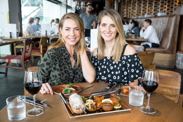 Kate Waterhouse Date with Kate with Kate Ritchie at Meat and Wine Co at Barangaroo