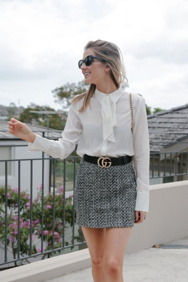 Kate Waterhouse street style Banded Together shirt
